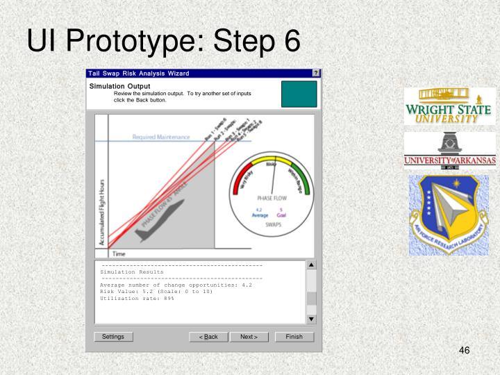 UI Prototype: Step 6