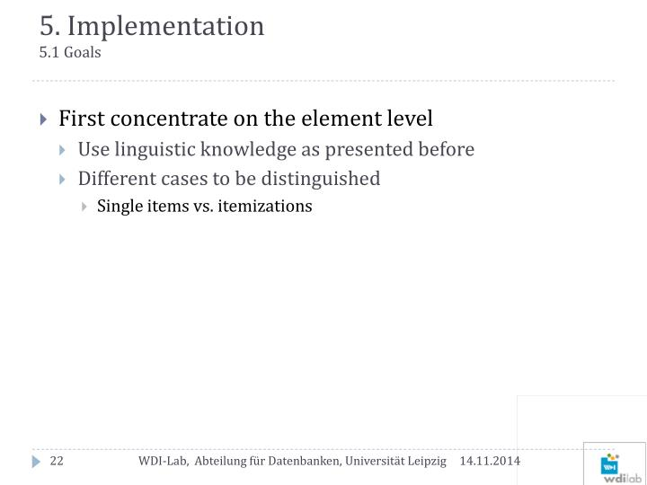 5. Implementation