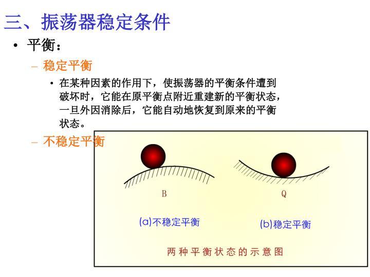 三、振荡器稳定条件