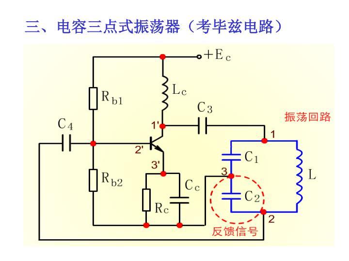 三、电容三点式振荡器(考毕兹电路)