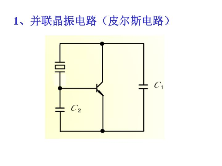 1、并联晶振电路(皮尔斯电路)