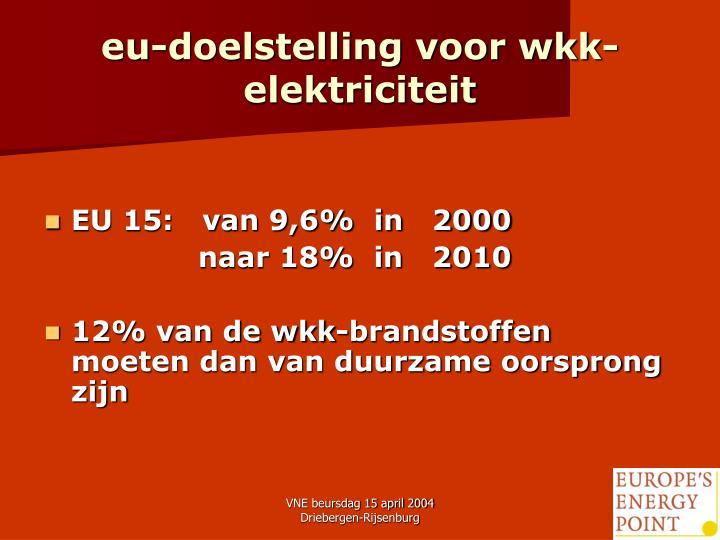 eu-doelstelling voor wkk-elektriciteit