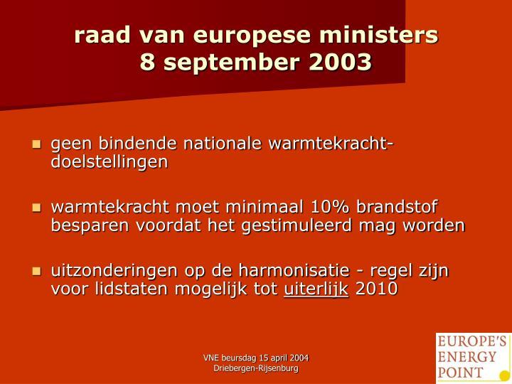 raad van europese ministers