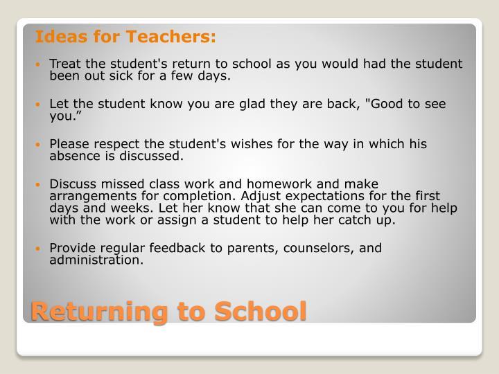 Ideas for Teachers: