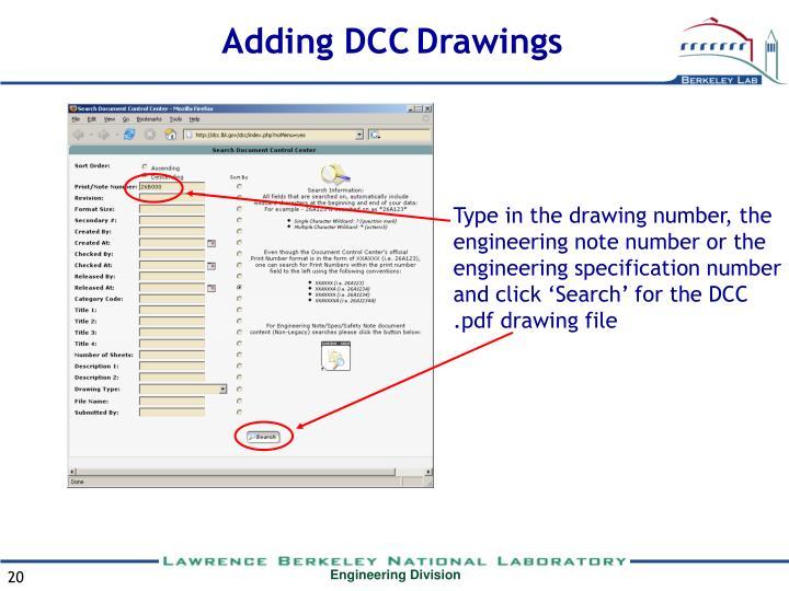 Adding DCC