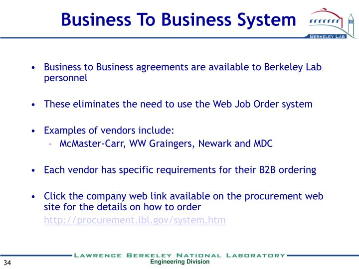 Business To Business System