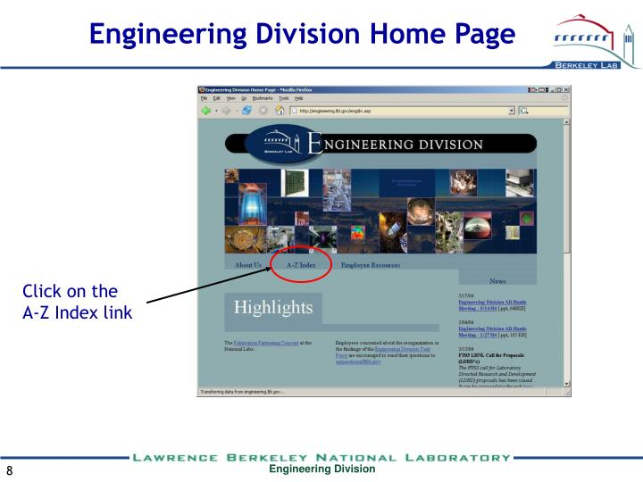 Engineering Division Home Page