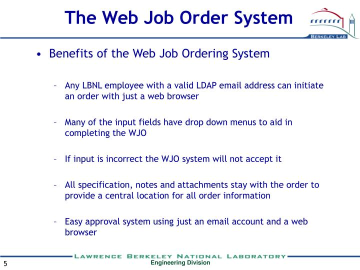 The Web Job Order System