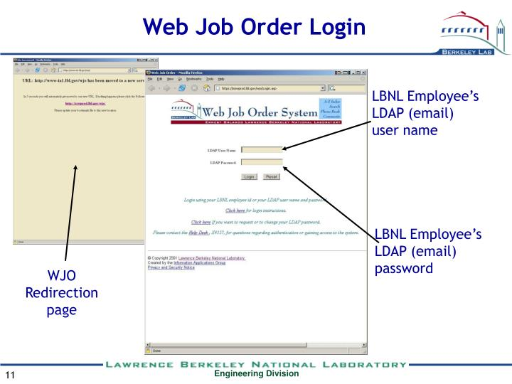 Web Job Order Login