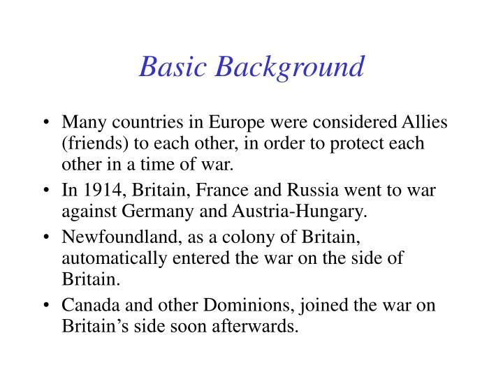 Basic Background