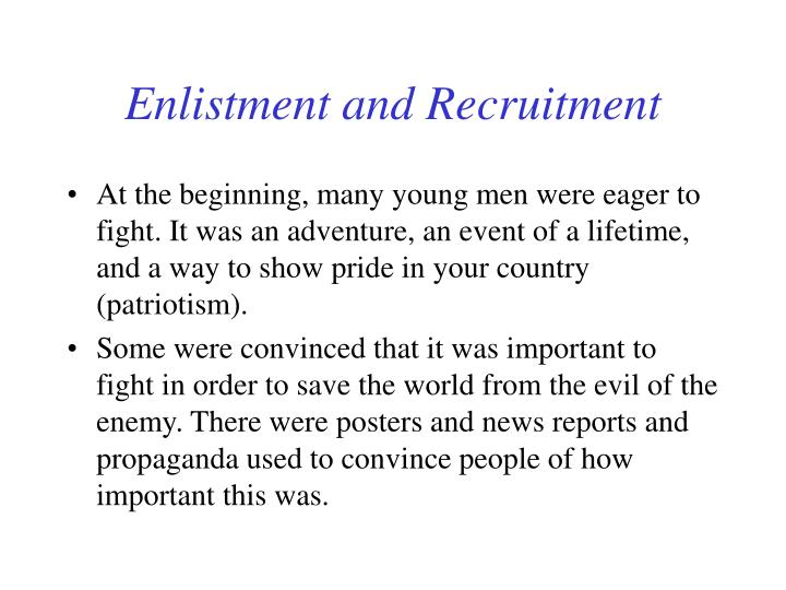 Enlistment and Recruitment