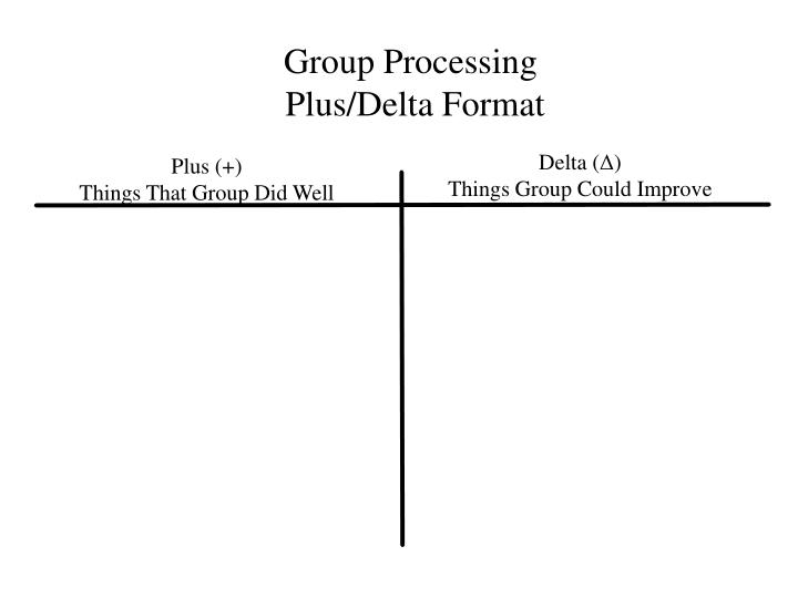 Group Processing