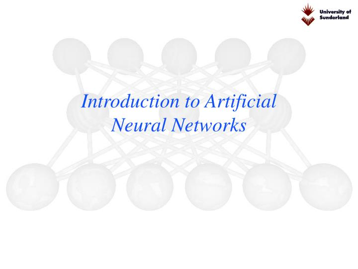 Introduction to Artificial