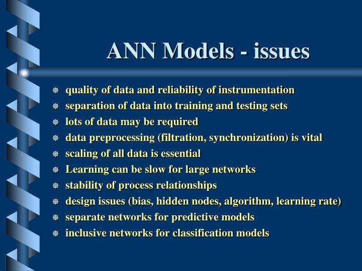 ANN Models - issues