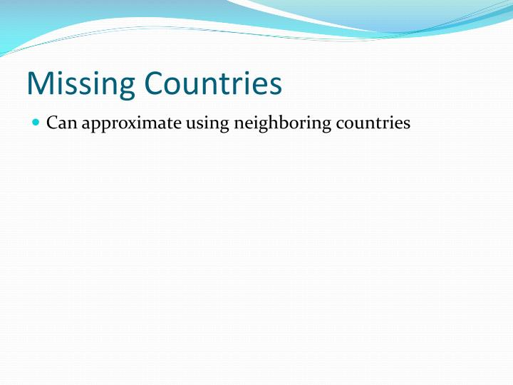 Missing Countries