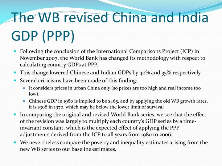 The WB revised China and India GDP (PPP)