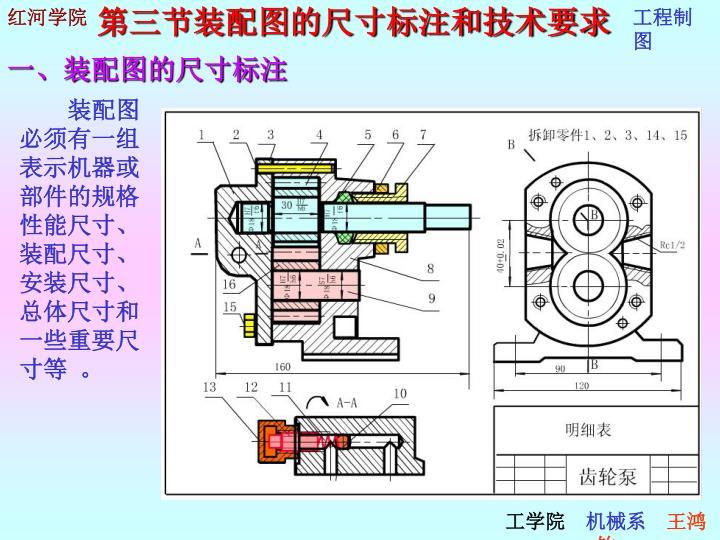 第三节装配图的尺寸标注和技术要求