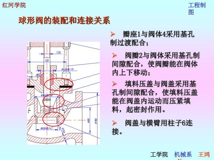 球形阀的装配和连接关系