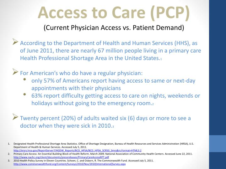Access to Care (PCP)