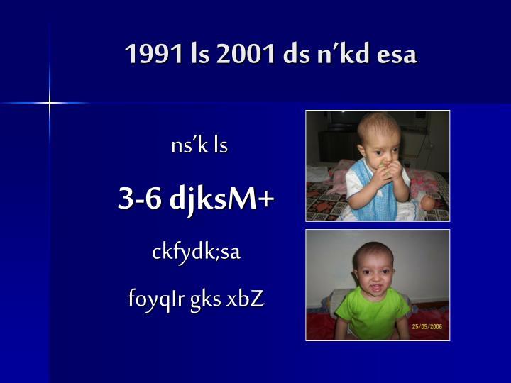 1991 ls 2001 ds n'kd esa