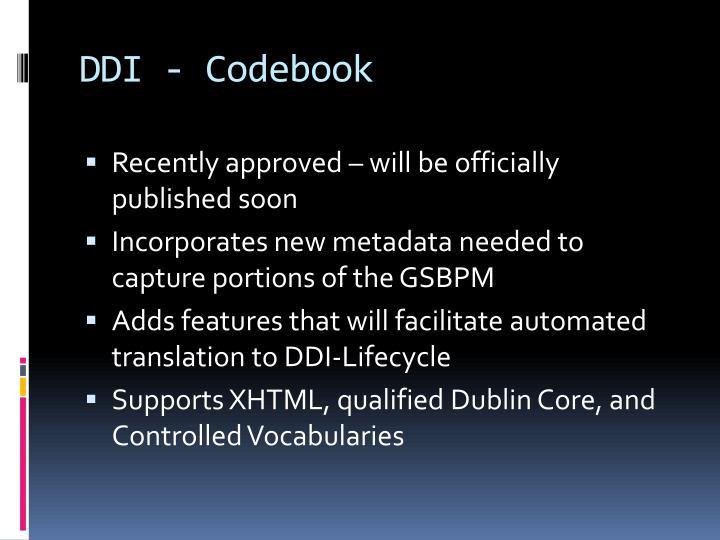 DDI - Codebook