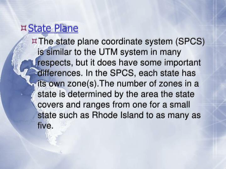 State Plane
