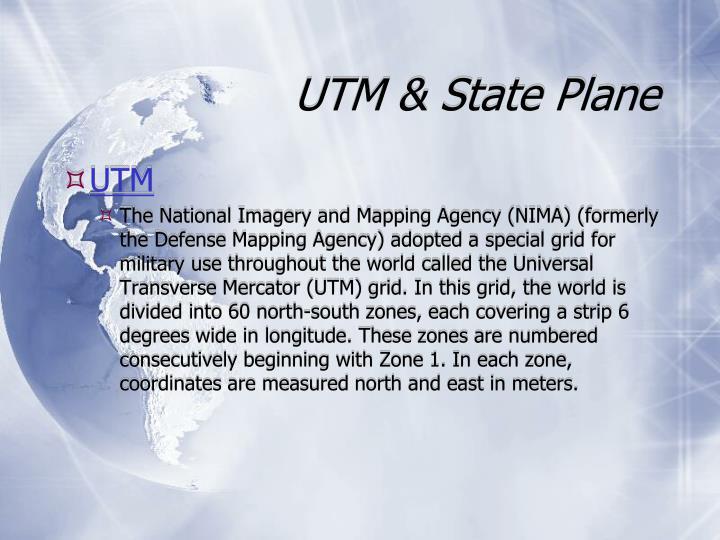 UTM & State Plane