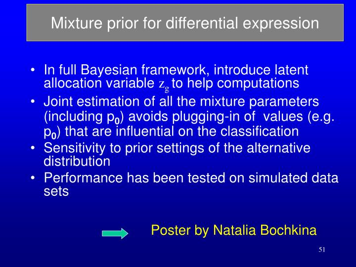 Mixture prior for differential expression