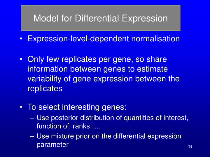 Model for Differential Expression