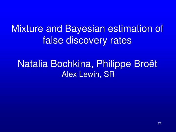 Mixture and Bayesian estimation of false discovery rates