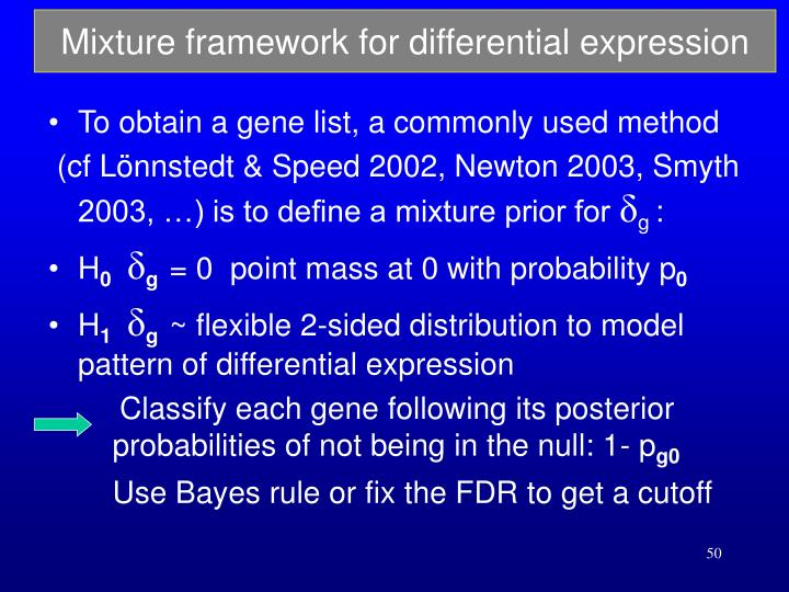 Mixture framework for differential expression