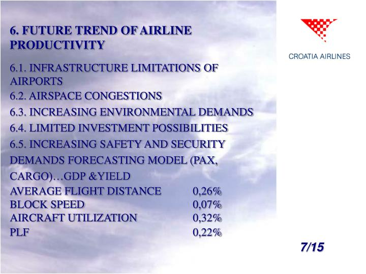 6. FUTURE TREND OF AIRLINE PRODUCTIVITY