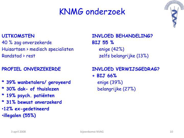 KNMG onderzoek