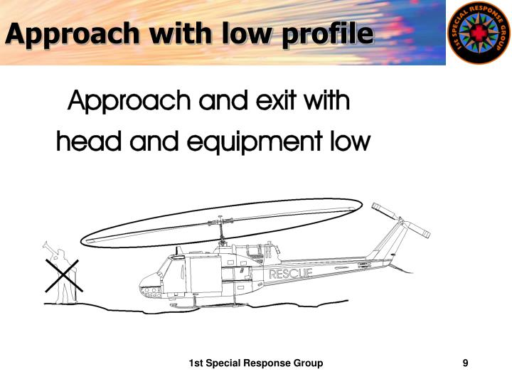 Approach with low profile
