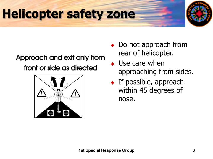Helicopter safety zone
