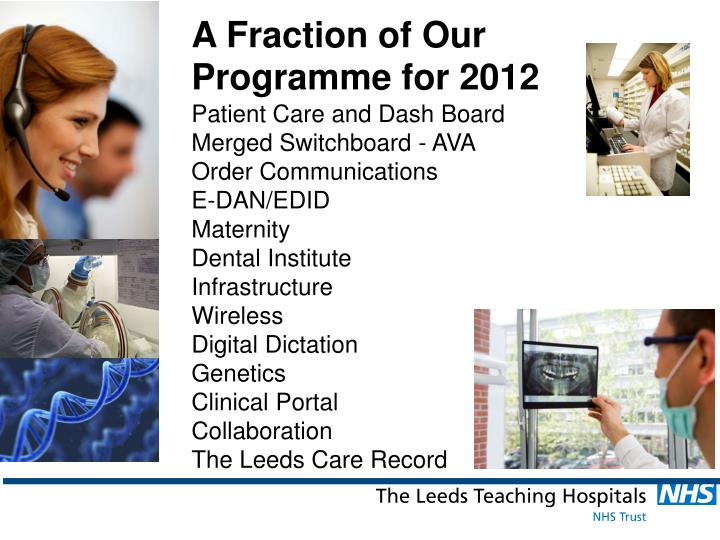 A Fraction of Our Programme for 2012