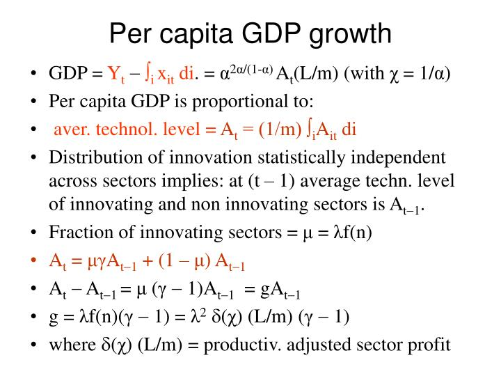 Per capita GDP growth
