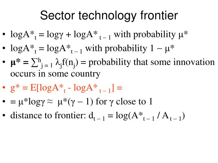 Sector technology frontier