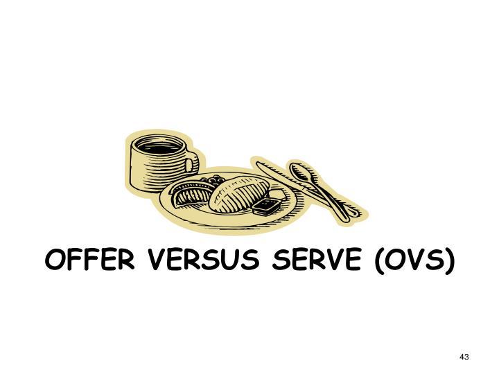 Offer versus Serve (OVS)