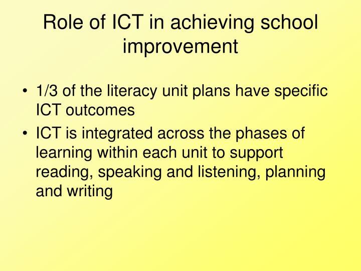 Role of ICT in achieving school improvement