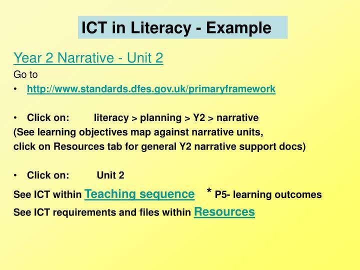 ICT in Literacy - Example