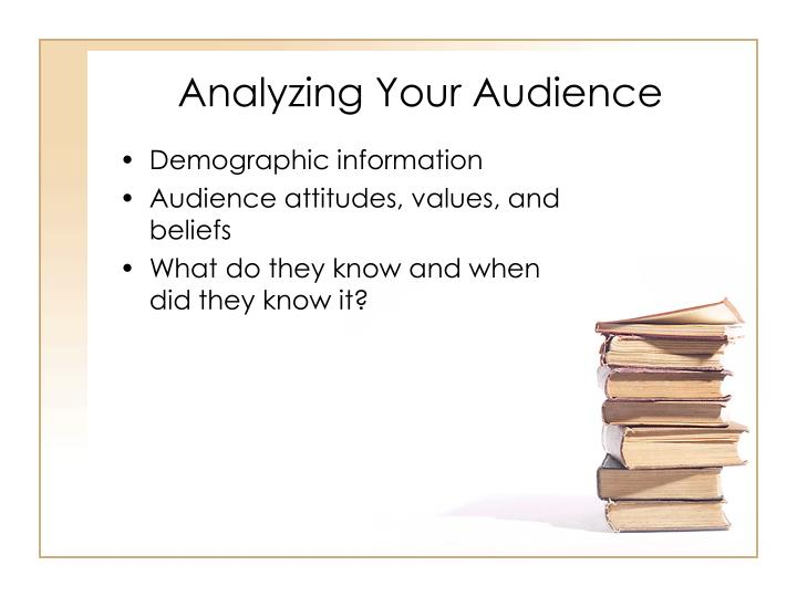 Analyzing Your Audience