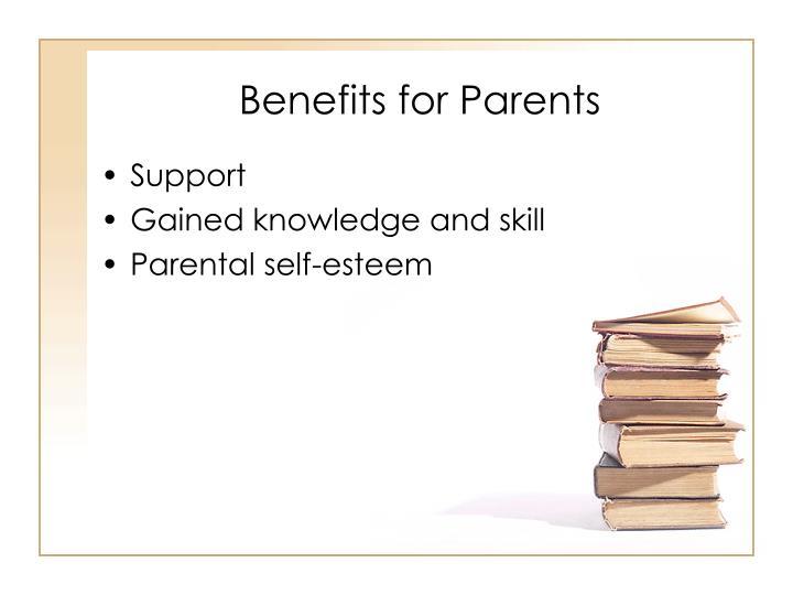 Benefits for Parents