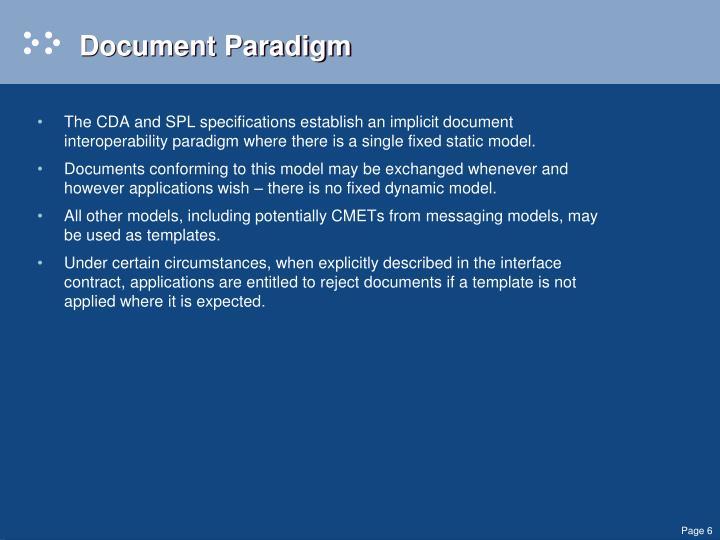 Document Paradigm