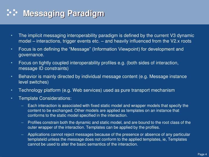 Messaging Paradigm