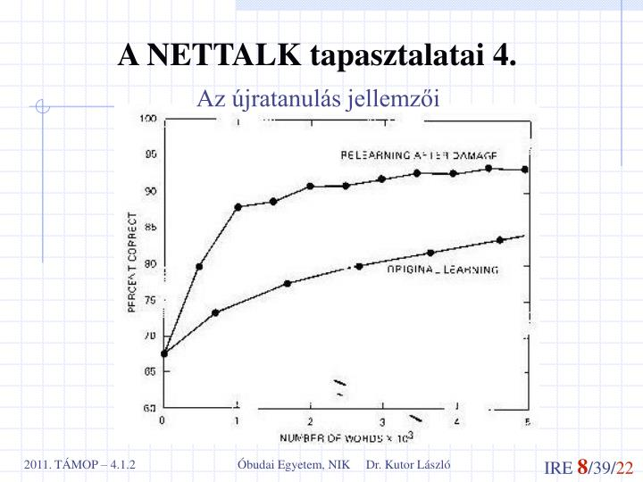 A NETTALK tapasztalatai 4.