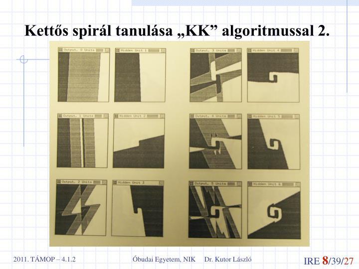 """Kettős spirál tanulása """"KK"""" algoritmussal 2."""