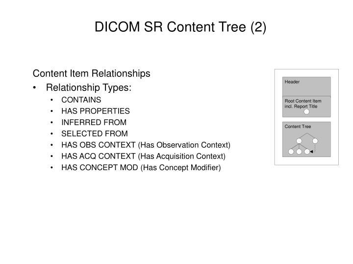 DICOM SR Content Tree (2)