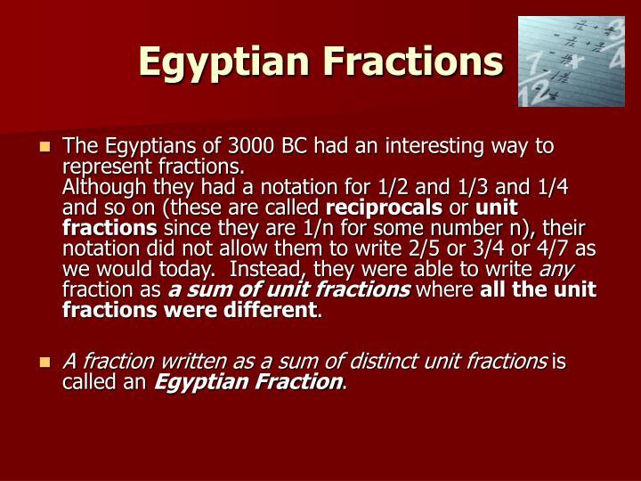 Egyptian Fractions