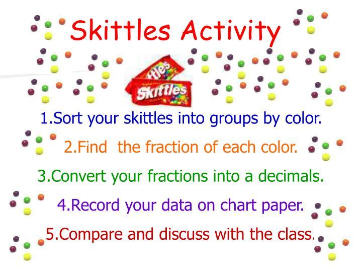Skittles Activity